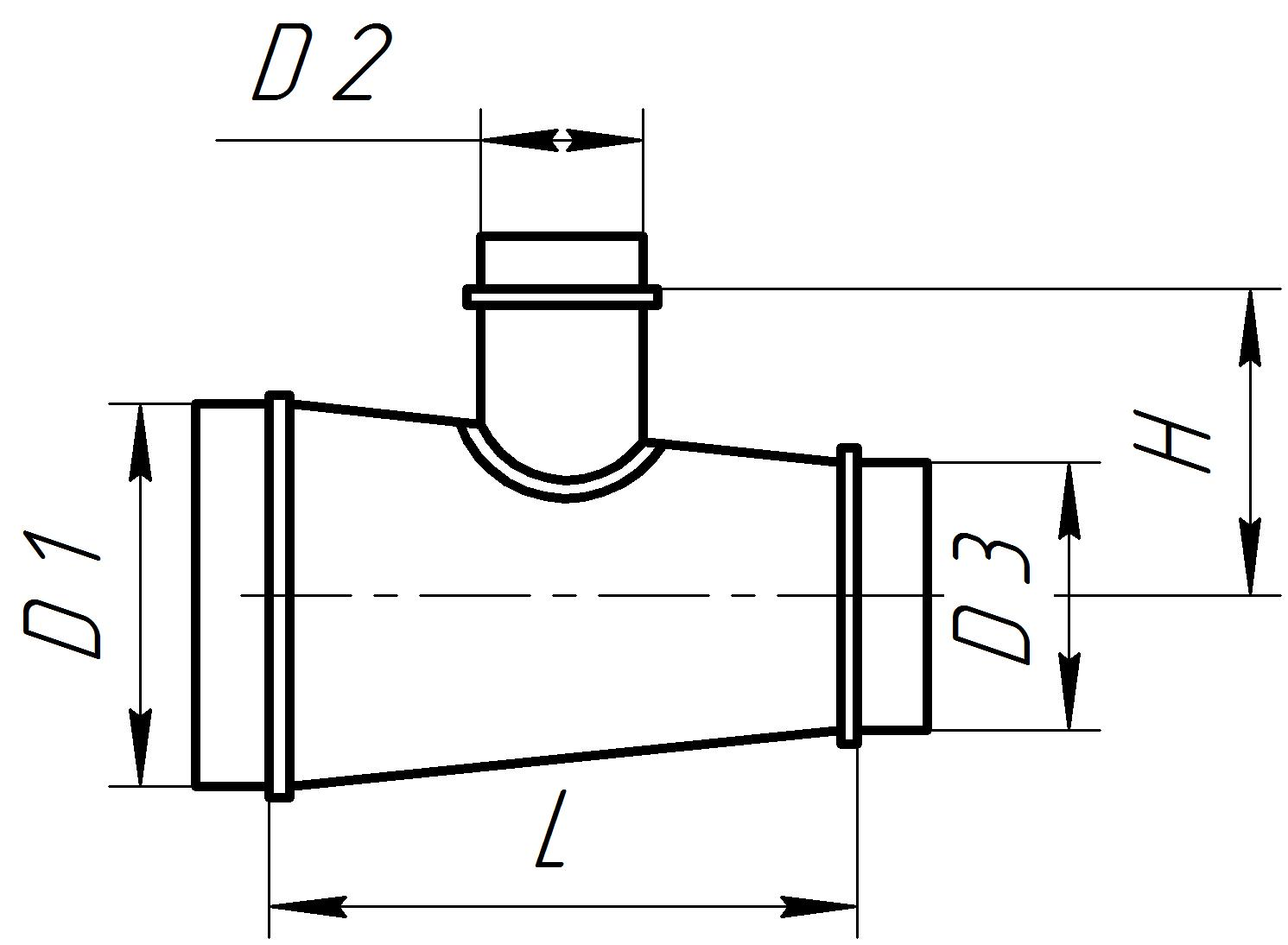 АэроСтар — купить вентиляционный тройник круглого сечения ... Тройник Стальной